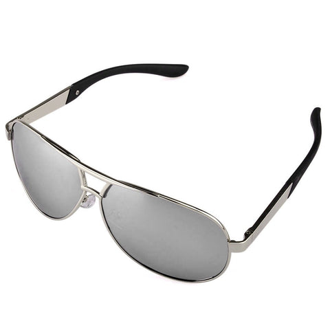 Men's Sport Polarized Aviator SunGlasses - Silver -  - 1