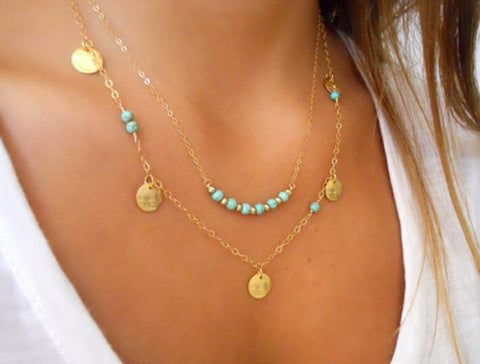 Women's Turquoise FULFILLED Pendant Necklace -  - 1