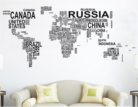 World Map Wall Art Vinyl Decal - Thirsty Buyer - 1
