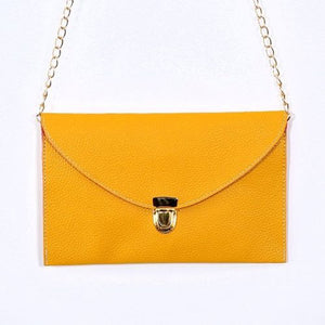 Ladies ENVELOPE Purse Handbag w/ Gold Clutch Chain - Assorted Colors - Thirsty Buyer - 1