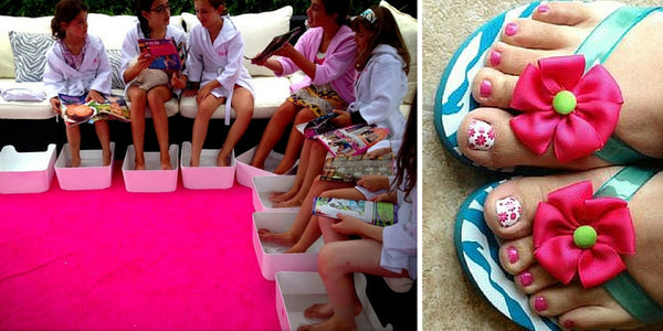 summer fun activities kids, kids pedicure, great for the girls, keep kids busy, zeitgeist gifts