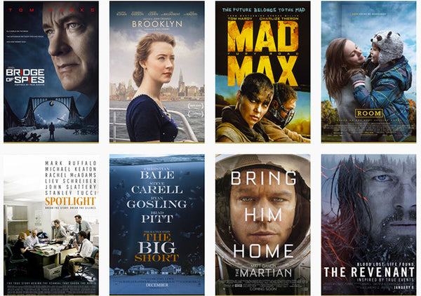 Oscars 2016 Nominees, Oscar Nominations 2016, Nominated Films 2016, Academy Awards Nominees
