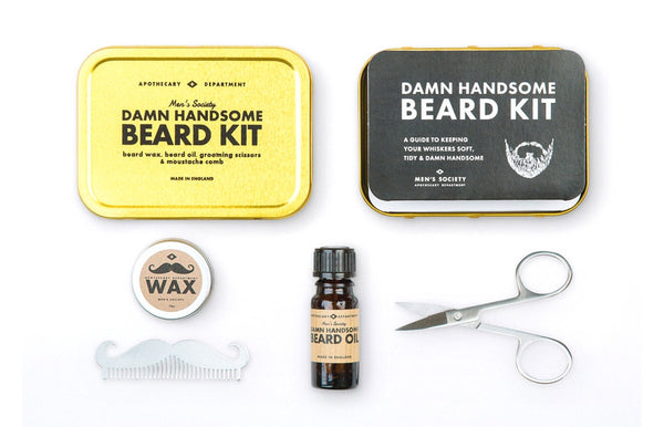 cool guys damn handsome beard grooming kit zeitgeist gifts. Black Bedroom Furniture Sets. Home Design Ideas