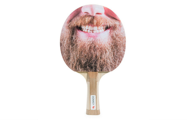 """Dr. Ping Pong"" Beard Table Tennis Paddle Set"