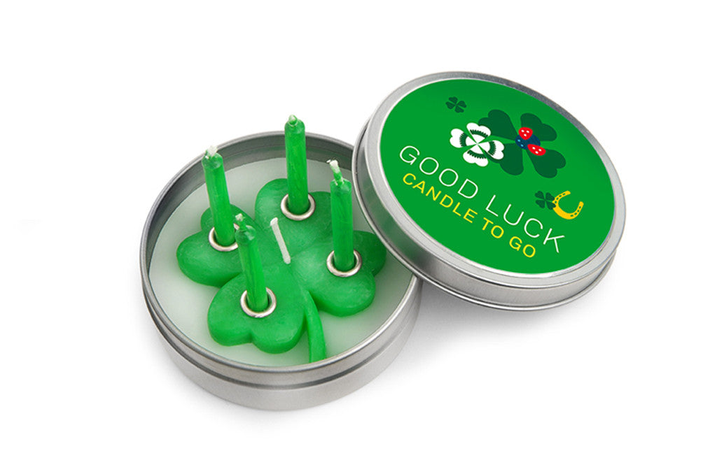 Candle to Go in Tin Good Luck - Zeitgeist Gifts