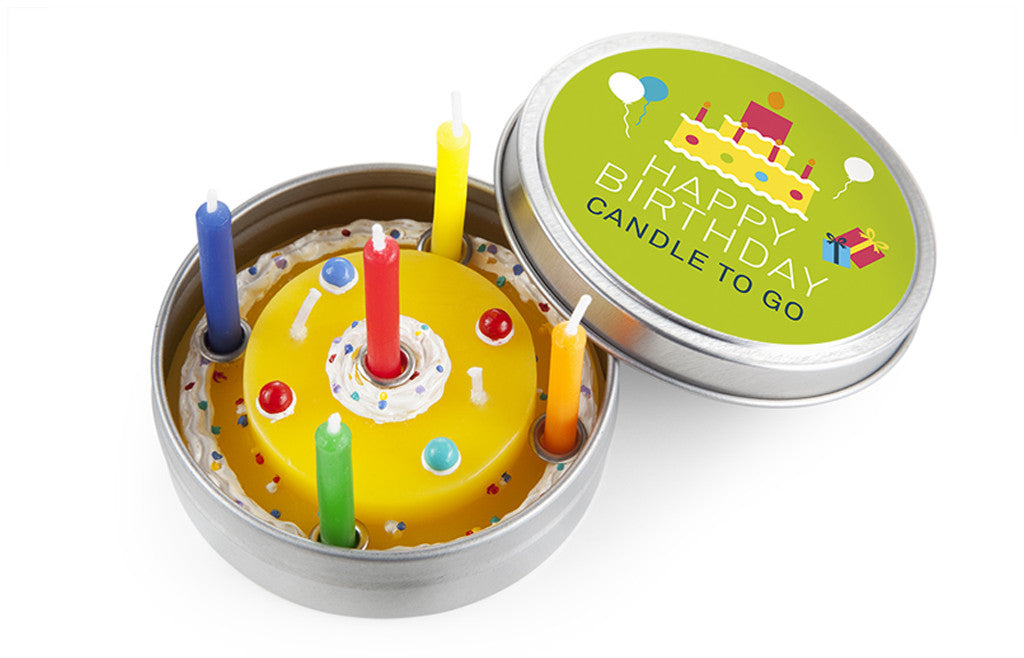 Candle to Go in Tin Birthday - Zeitgeist Gifts