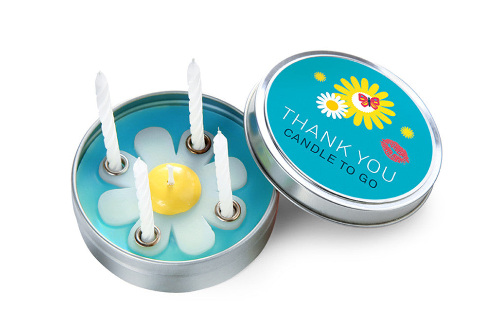 Candle to Go in Tin Thank You - Zeitgeist Gifts