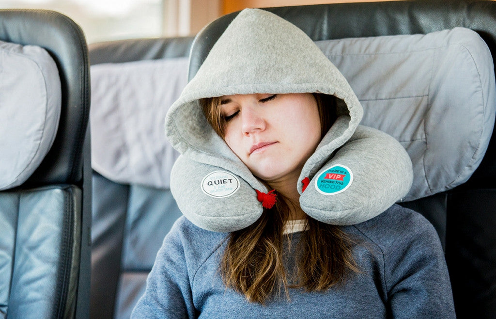 """Chill Out"" Travel Hoodie and Neck Pillow - Zeitgeist Gifts"