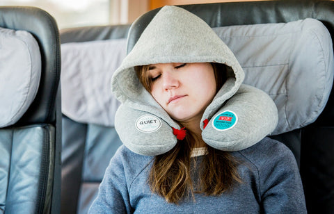 """Chill Out"" Travel Hoodie and Neck Pillow"