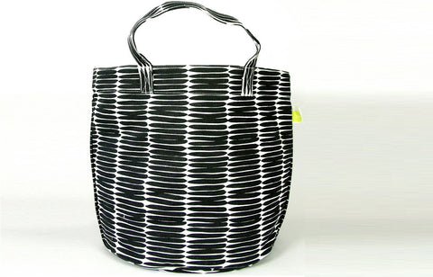 Modern Large Circle Summer Tote Bag - Basket Black