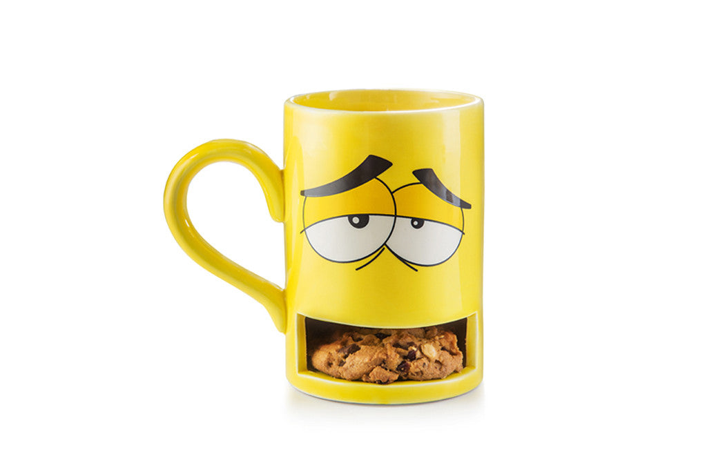 Mug Monster with Cookie Holder Yellow - Zeitgeist Gifts