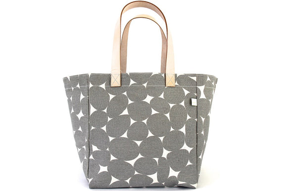 Modern Summer Cube Tote Bag - Stones Gray