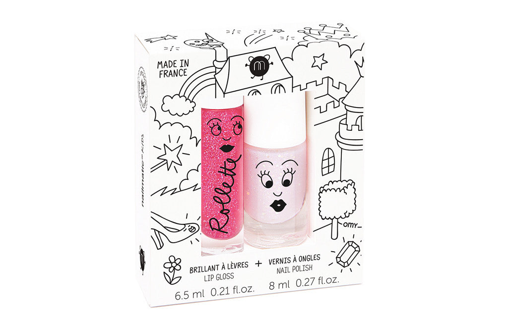 Kids Gift Set - Nail Polish & Lip Gloss Polish Fairytales