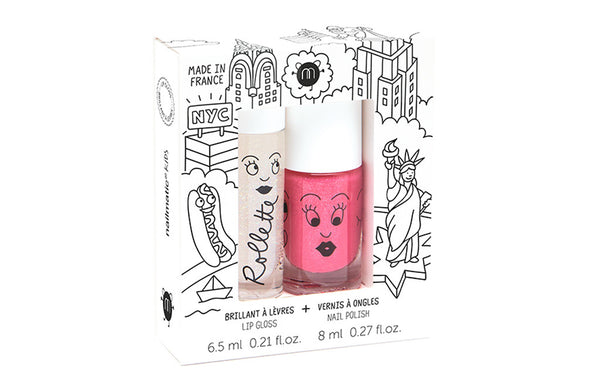 Kids Gift Set - Nail Polish & Lip Gloss New York