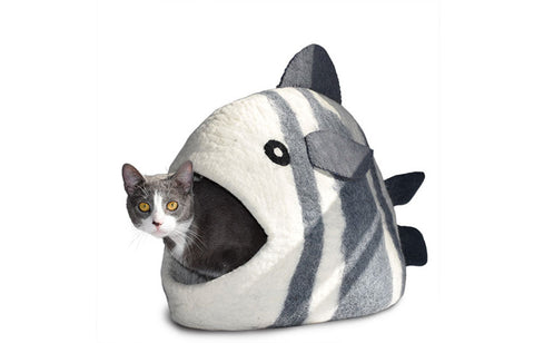 White Fish Cave - Felt Pet Bed
