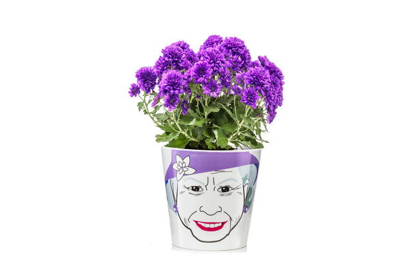 Flower Pot Large - Queen - Zeitgeist Gifts