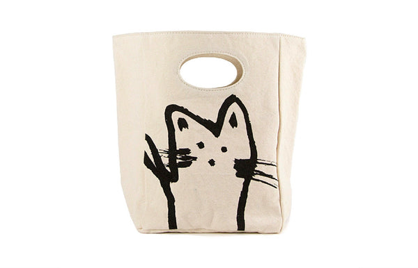 Unique Organic Lunch Bag - HEY CAT - Zeitgeist Gifts
