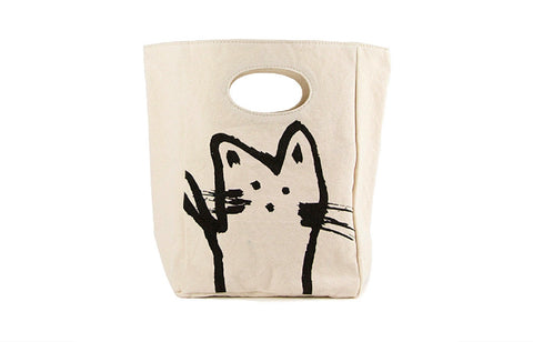 Unique Organic Lunch Bag - HEY CAT