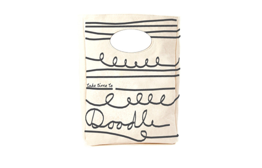 Unique Organic Lunch Bag Take Time to Doodle - Zeitgeist Gifts