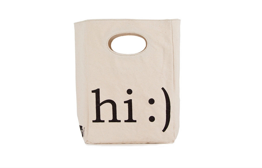 Unique Organic Lunch Bag HI :) - Zeitgeist Gifts