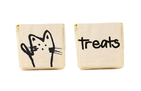 Snack Packs MEOW (Pack of 2) Made of Organic Cotton - Zeitgeist Gifts