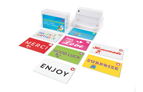 Fun Gift Tags - 80 Perforated Paper Cards in Box
