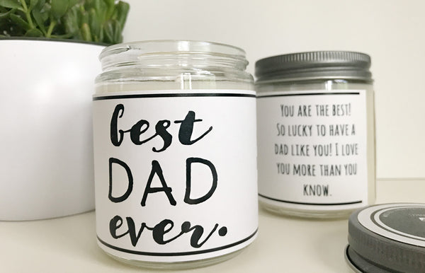 Handmade Best Dad Ever Scented Soy Candle