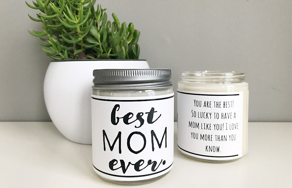 Handmade Best Mom Ever Scented Soy Candle