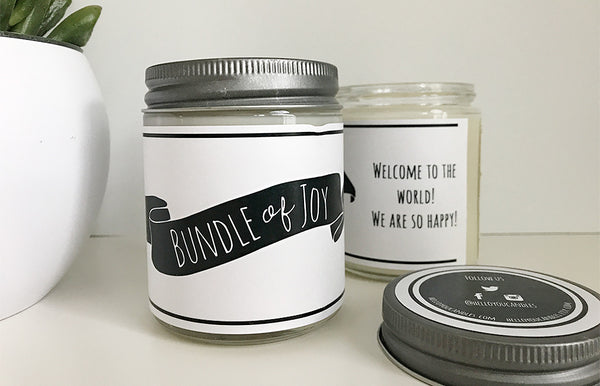 Handmade Bundle Of Joy Scented Soy Candle