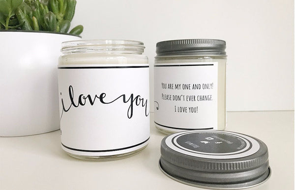 Handmade I Love You Scented Soy Candle