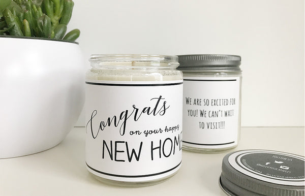 Handmade New Home Scented Soy Candle