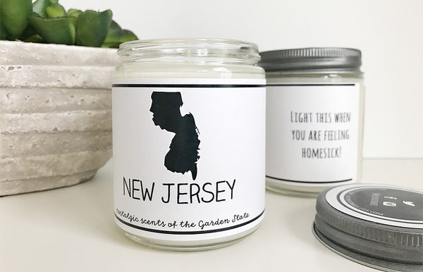 Handmade New Jersey Scented Soy Candle