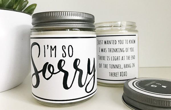 Handmade I'm Sorry Scented Soy Candle