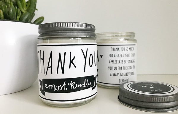 Handmade Teacher Thank You Scented Soy Candle