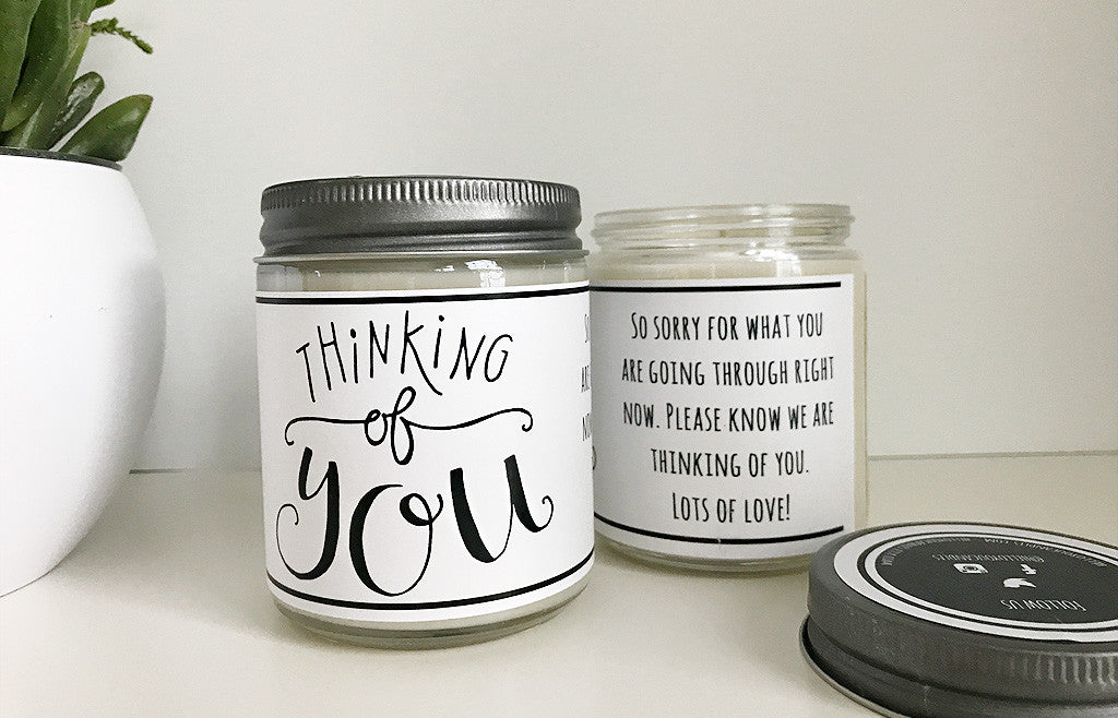 Handmade Thinking Of You Scented Soy Candle