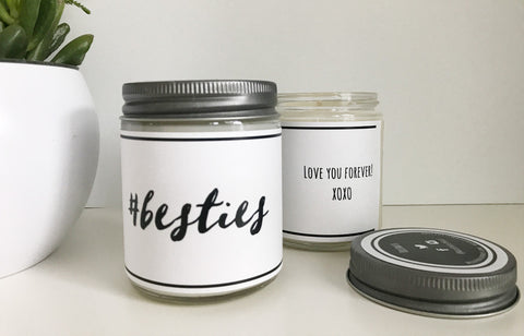 Handmade Best Friends Scented Soy Candle