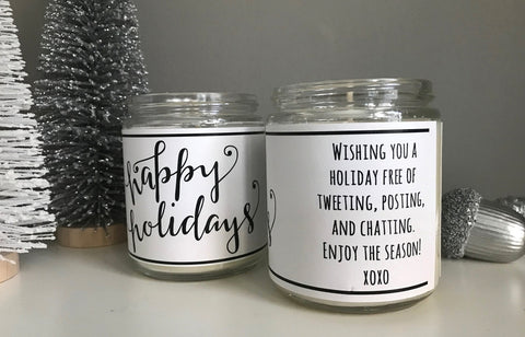 Handmade Happy Holidays Scented Soy Candle