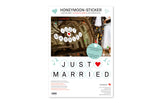 Removable Car Stickers Honeymoon for Weddings - Zeitgeist Gifts