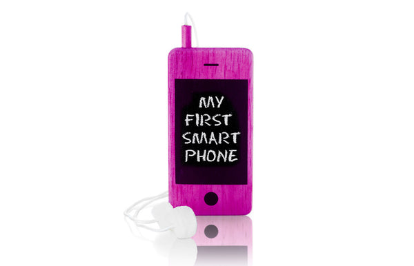 I-Woody Wooden Smartphone Pink