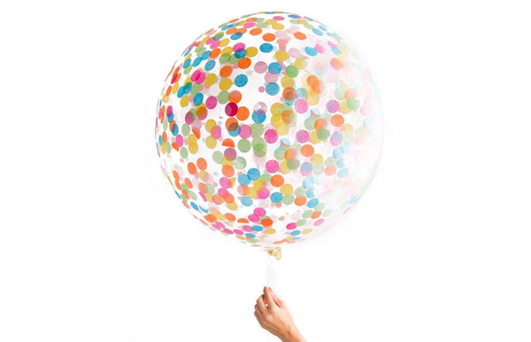Jumbo Confetti Party Balloon - Multi-Colored