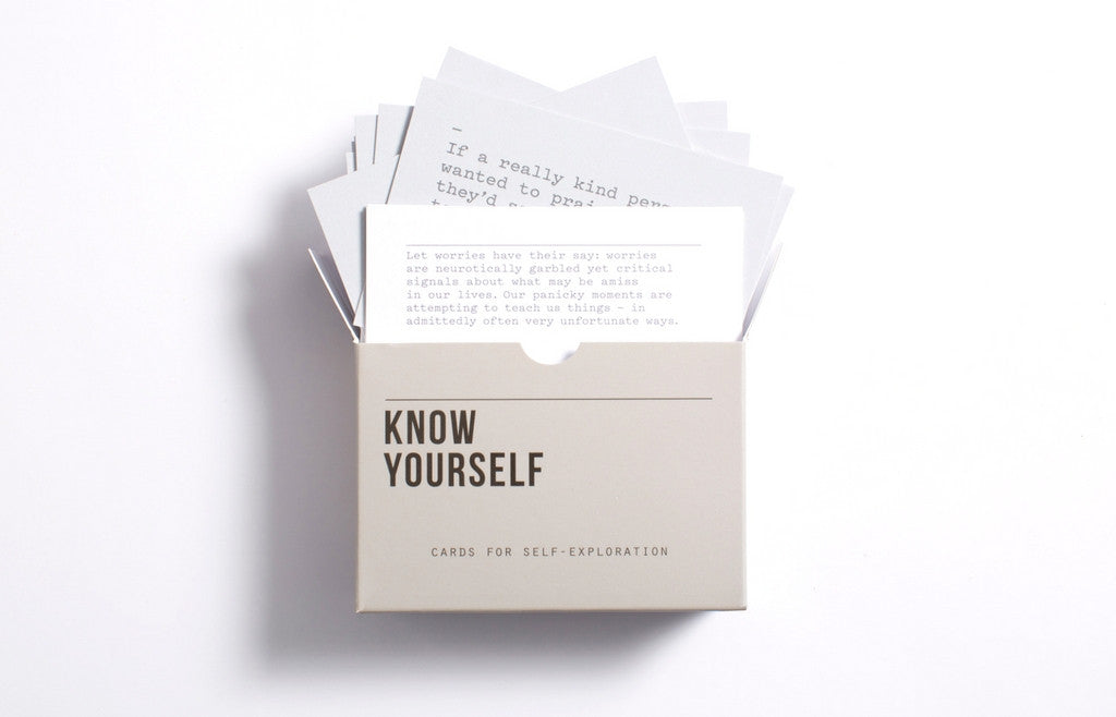 Know Yourself! Prompt Cards For Self-Analysis