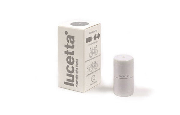 Lucetta Magnetic Bike Light LED Gray & Adapter - Zeitgeist Gifts