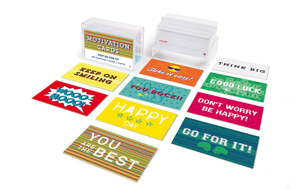 Fun Messages & Motivation Cards 80 Paper Cards in Box - Zeitgeist Gifts