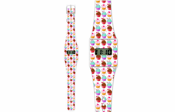 Kids Watch Made of Paper Tyvek - Cupcake