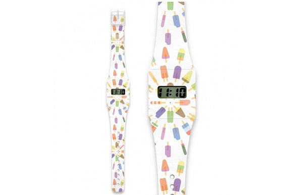 Fashion Pappwatch Made of Paper Tyvek - Popsicle