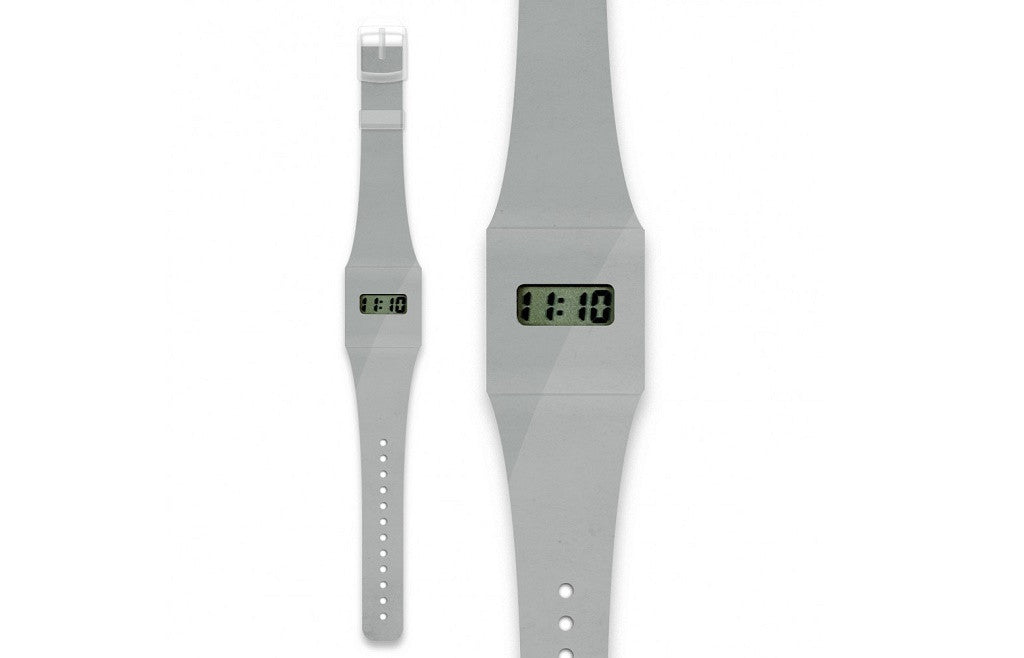 Fashion Pappwatch Made of Paper Tyvek - Silver Metallic
