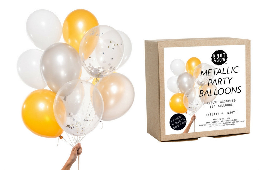 Party Balloons - Metallic Mix - Zeitgeist Gifts