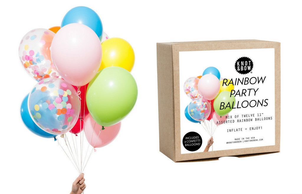 Party Balloons - Rainbow Mix - Zeitgeist Gifts