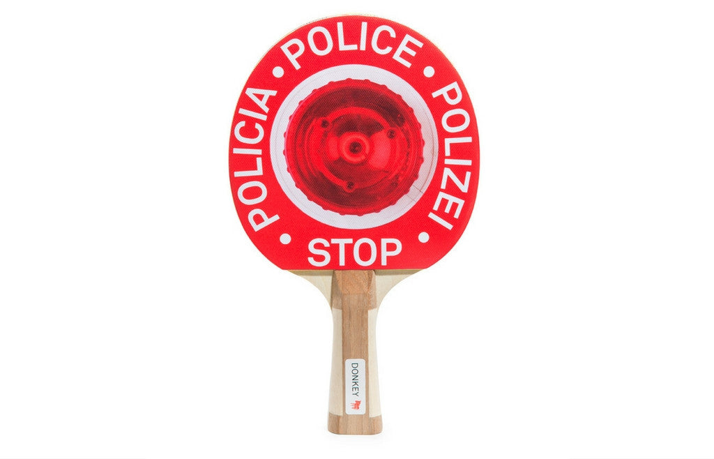 """Ping Pong Patrol"" Stop Police Table Tennis Paddle Set - Zeitgeist Gifts"