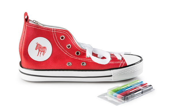 Pencil Case Donkey Doodle Sneaker Red - Zeitgeist Gifts